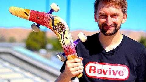 SKATING A REAL AUSTRALIAN BOOMERANG | SKATE EVERYTHING EP. 109 | Braille Skateboarding