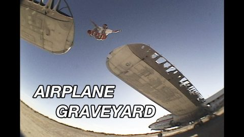 SKATING AN AIRPLANE GRAVEYARD (RAW FOOTAGE) | A Happy Medium Skateboarding