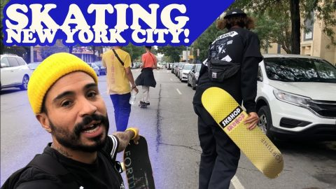 Skating Around NEW YORK!(100th Episode) | MannysWorld