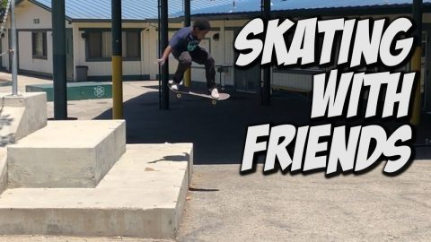 SKATING BIG 3 WITH EMMIT AND FRIENDS !!! - NKA VIDS - | Nka Vids Skateboarding