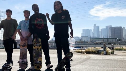 SKATING DTLA WITH NEW SKATERS & HERN !!! - NKA VIDS - | Nka Vids Skateboarding
