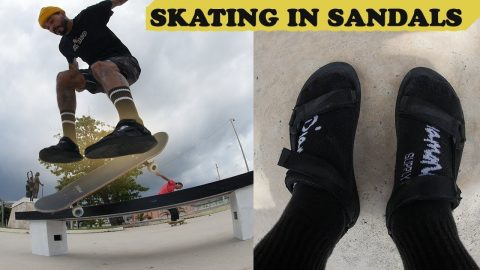 Skating In Sandals(SKETCHY) | MannysWorld