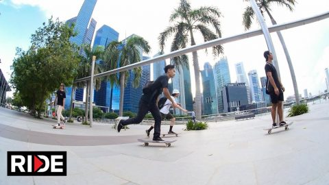 Skating in Singapore with Firdaus Rahman and Alex Soikkeli - RIDE Channel