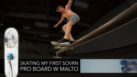 Skating My First Sovrn Pro Board with Malto - Mikey Taylor