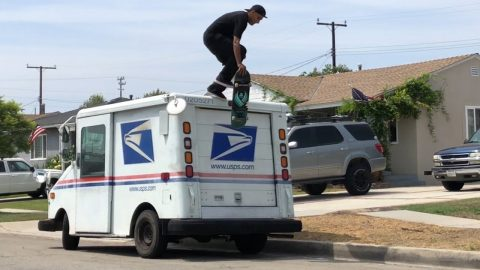 SKATING OFF OF MAIL TRUCKS WITH THE ESCABADO BROS !!! - NKA VIDS - | Nka Vids Skateboarding