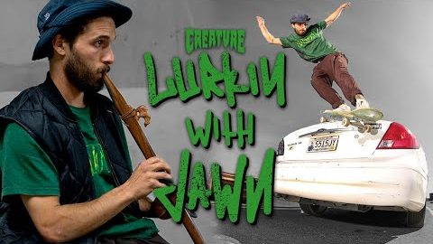 Skating on Cars, Boulders, and Under a Bridge | Lurkin with John Gardner | Creature Skateboards