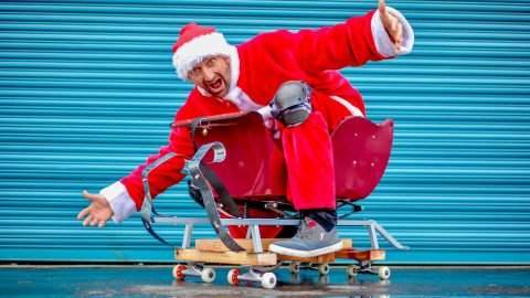 SKATING SANTA'S SLEIGH | Braille Skateboarding