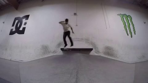 Skating the DC X Monster private park on a rainy day - Chris Cobra Cole