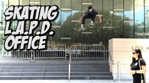 SKATING THE POLICE STATION AND MUCH MORE !!! - NKA VIDS - | Nka Vids Skateboarding