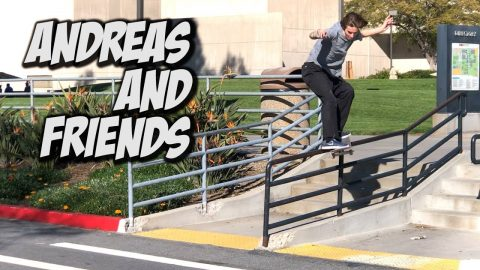 SKATING WITH ANDREAS ALVAREZ AND FRIENDS !!! - NKA VIDS - | Nka Vids Skateboarding
