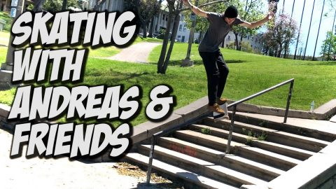 SKATING WITH ANDREAS, DONNY & FRIENDS !!! - NKA VIDS - | Nka Vids Skateboarding