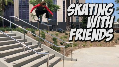 SKATING WITH FRIENDS AND NEW KIDS !!! - NKA VIDS - | Nka Vids Skateboarding