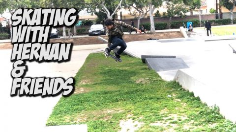 SKATING WITH HERNAN AND FRIENDS !!! - NKA VIDS - - Nka Vids Skateboarding