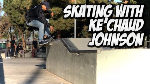 SKATING WITH KE'CHAUD JOHNSON & FRIENDS !!! - NKA VIDS - - Nka Vids Skateboarding