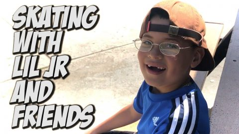 SKATING WITH LIL JR AND FRIENDS !!! - NKA VIDS - | Nka Vids Skateboarding