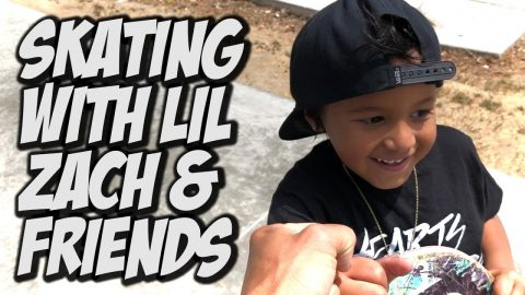 SKATING WITH LIL ZACH AND FRIENDS !!! - NKA VIDS - | Nka Vids Skateboarding