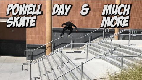 SKATING WITH THE POWELL TEAM AND MUCH MORE !!! - A DAY WITH NKA - | Nka Vids Skateboarding