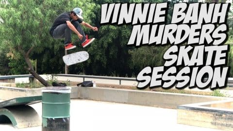 SKATING WITH VINNIE BANH & BLKWD DENIM - A DAY WITH NKA - - Nka Vids Skateboarding