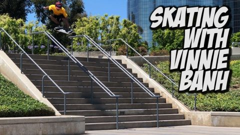 SKATING WITH VINNIE BANH !!! - NKA VIDS - | Nka Vids Skateboarding