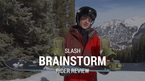 Slash Brainstorm 2019 Snowboard Rider Review - Tactics.com - Tactics Boardshop
