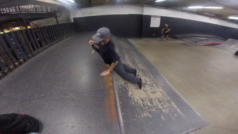 Slip and slid'n ledge tricks at Vans Skateboard park in Orange, CA. | Ronnie Creager