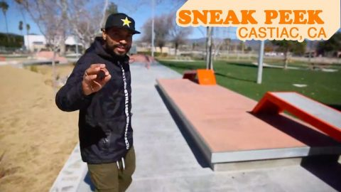 SNEAK PEAK | Castiac Skatepark | MannysWorld