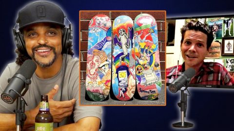 Spanky Makes Baker Skateboard Graphics Right On His iPhone!?! | Nine Club Highlights
