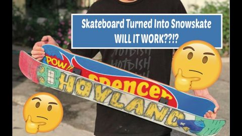 Spencer Nuzzi Turns His Pro Model into a Snowskate | ihatespencernuzzi