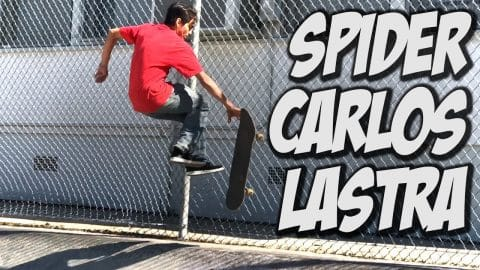 SPIDER CARLOS LASTRA ??? - A DAY WITH NKA - - Nka Vids Skateboarding