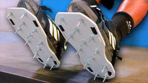 SPIKED SHOES ONLY! STUPID SKATE | Braille Skateboarding