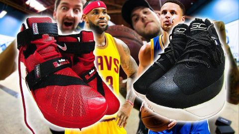 STEPHEN CURRY VS LEBRON JAMES   WHO'S SHOE SKATES BETTER - Braille Skateboarding