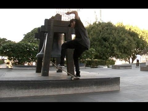 Steven Catizone Switch 180 5 0 bs 180 Nose Grind Combo Raw Uncut - E. Clavel