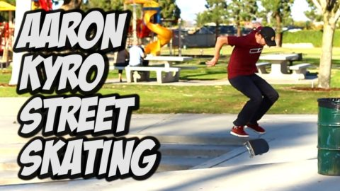 STREET SKATING WITH AARON KYRO !!!! - Nka Vids