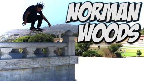 STREET SKATING WITH NORMAN WOODS - A DAY WITH NKA - Nka Vids Skateboarding