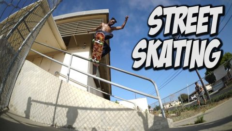 STREET SKATING WITH TERRILL JEFFERSON AND FRIENDS !!! - Nka Vids Skateboarding