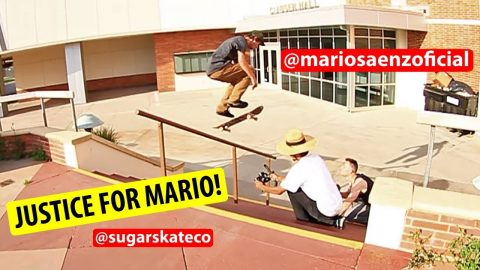 Sugar Skate Co. - Mario Saenz 360 Flip Lipslide for the Justice! ⚖️ | Sugar Skate Co.