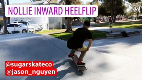 Sugar Skate Co. - Nollie Inward Heelflip by Jason Nguyen! | Sugar Skate Co.