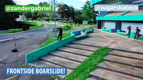 Sugar Skate Co. - Zander Gabriel Frontside Boardslide on an Island ️ | Sugar Skate Co.