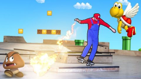 SUPER MARIO SKATEBOARDING! - Braille Skateboarding