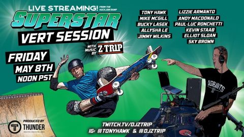 Superstar Vert Session feat. Z-Trip from Tony Hawk's Huckjam Ramp | RIDE Channel