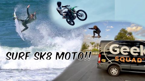 Surf Sk8 Moto Trailer!! Full Vid on @OFF THE CHAIN !!   Bam Margera