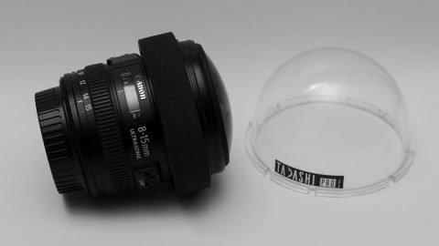 Tadashi Filters: INSERT 76mm secured onto Canon 8-15mm - TadashiFilters