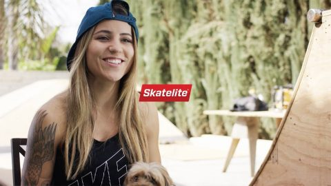 Take a tour of Leticia Bufoni's Backyard Skatepark! | Skatelite