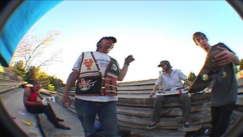 """Texalona"" B-roll Jeff the homeless guy singing ""Turn the page"" 
