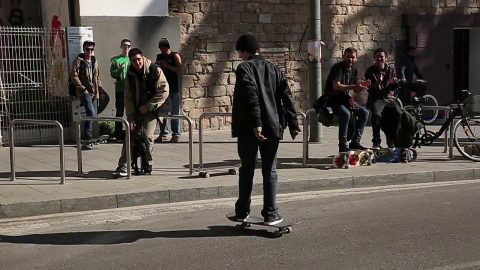 """Texalona"" Jacobo Carozzi Fs smith kick flip MACBA outledge 
