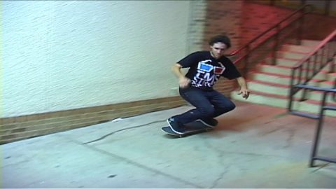 """Texalona"" Ryan Strader Panchos rail session kickflip crooked grind 