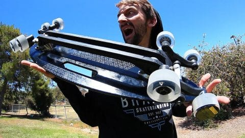 THE 8 WHEELED ALL ROVER SKATEBOARD! | SKATE CIRCUS - Braille Skateboarding