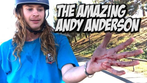 THE AMAZING ANDY ANDERSON IS BACK !!! NKA VIDS - Nka Vids Skateboarding