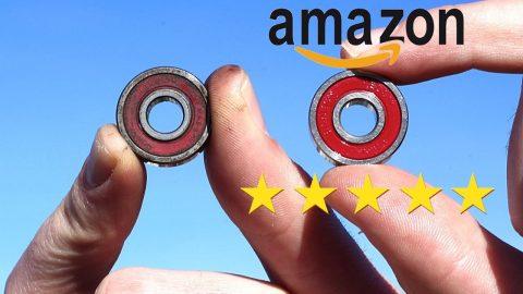 THE BEST REVIEWED BEARINGS ON AMAZON VS OLD RUSTED BEARINGS! - Braille Skateboarding