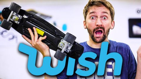 The Cheapest Wish.com Penny Board?! | Braille Skateboarding